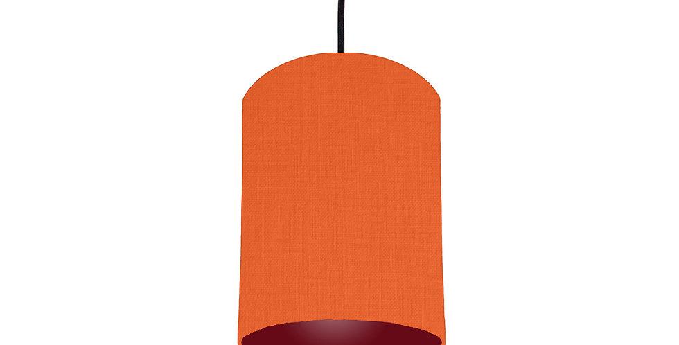 Orange & Burgundy Lampshade - 15cm Wide