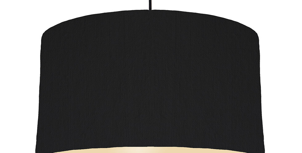 Black & Ivory Lampshade - 50cm Wide