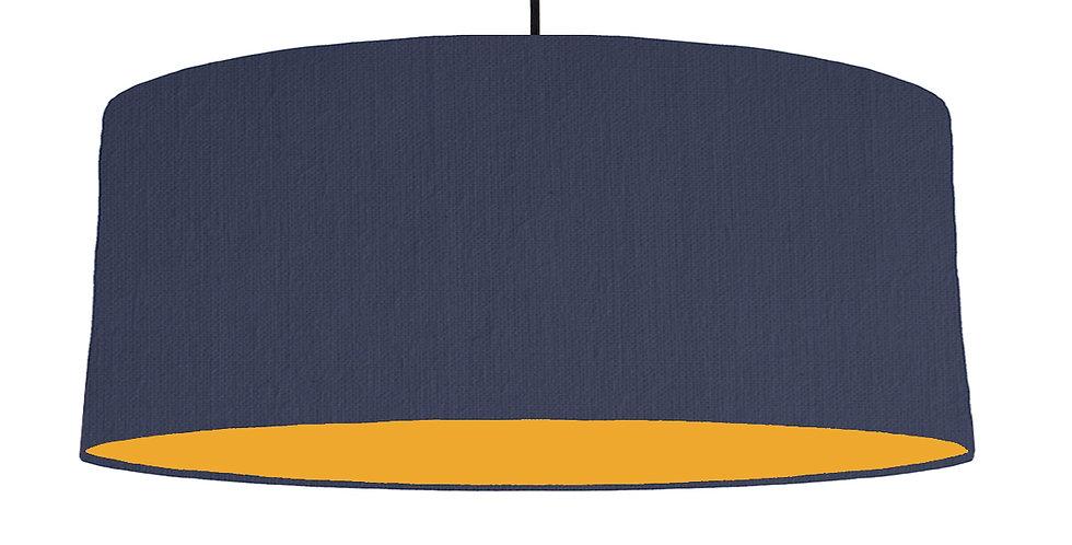 Navy Blue & Mustard Lampshade - 70cm Wide