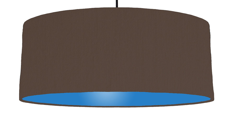 Brown & Bright Blue Lampshade - 70cm Wide