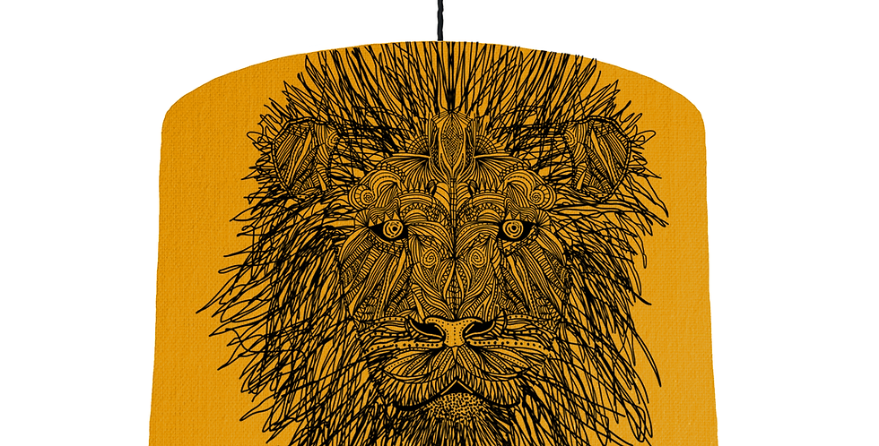 Lion Shade - Mustard Fabric