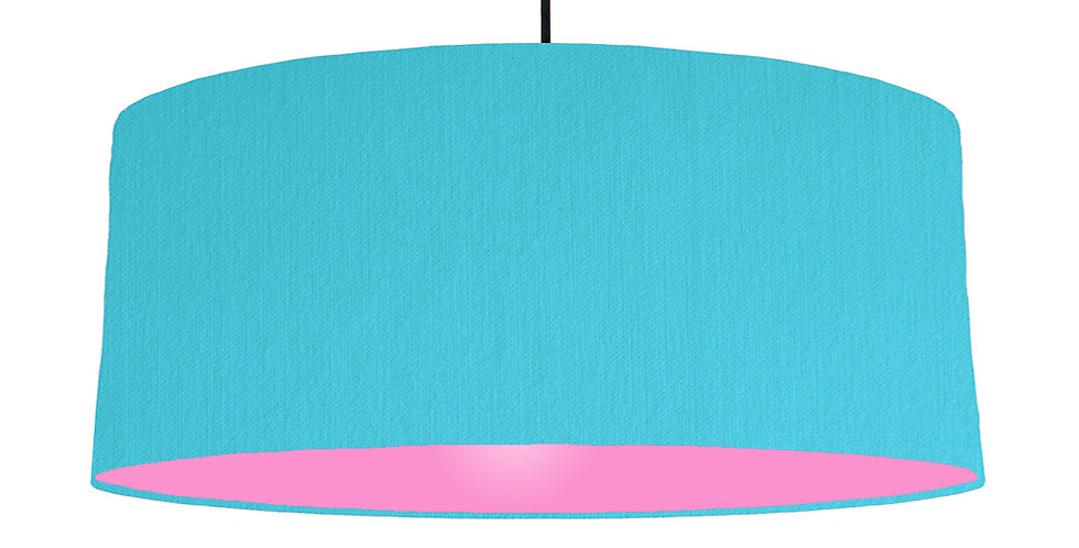 Turquoise & Pink Lampshade - 70cm Wide