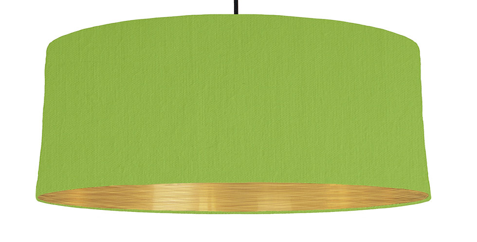 Pistachio & Brushed Gold Lampshade - 70cm Wide