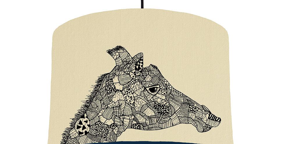 Giraffe - Natural & Navy Lining