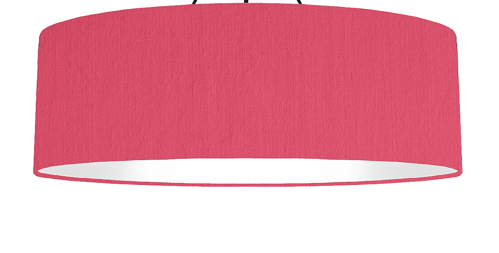 Cerise & White Lampshade - 100cm Wide