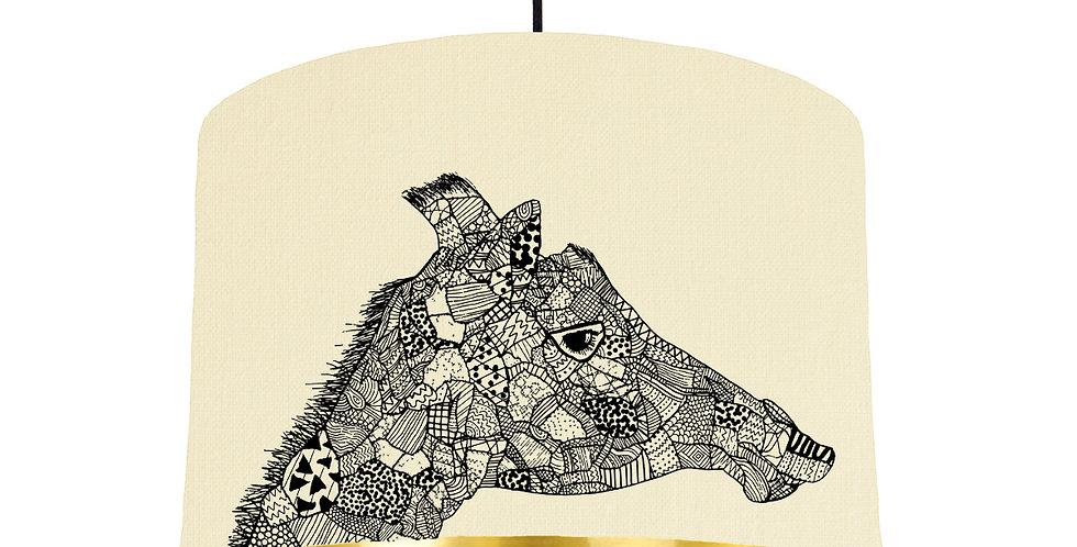 Giraffe - Natural & Gold Mirror