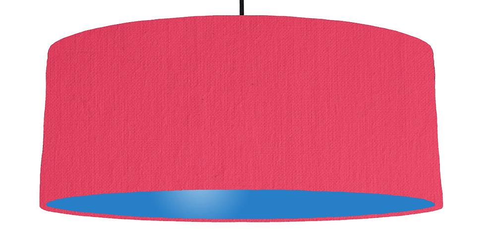 Cerise & Bright Blue Lampshade - 70cm Wide