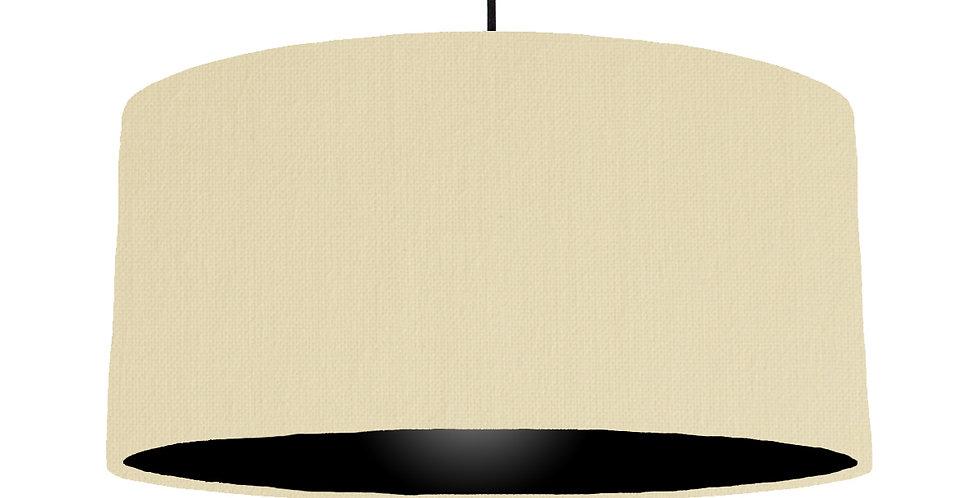 Natural & Black Lampshade - 60cm Wide