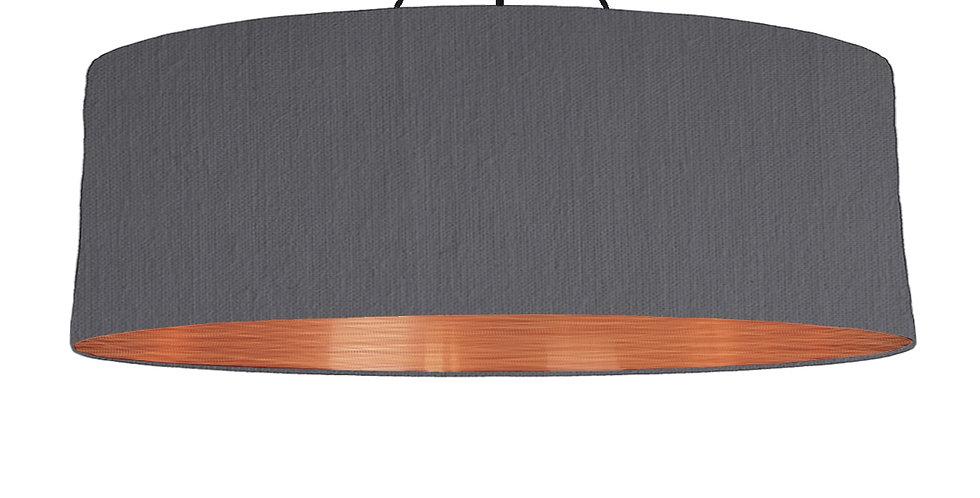 Dark Grey & Brushed Copper Lampshade - 100cm Wide