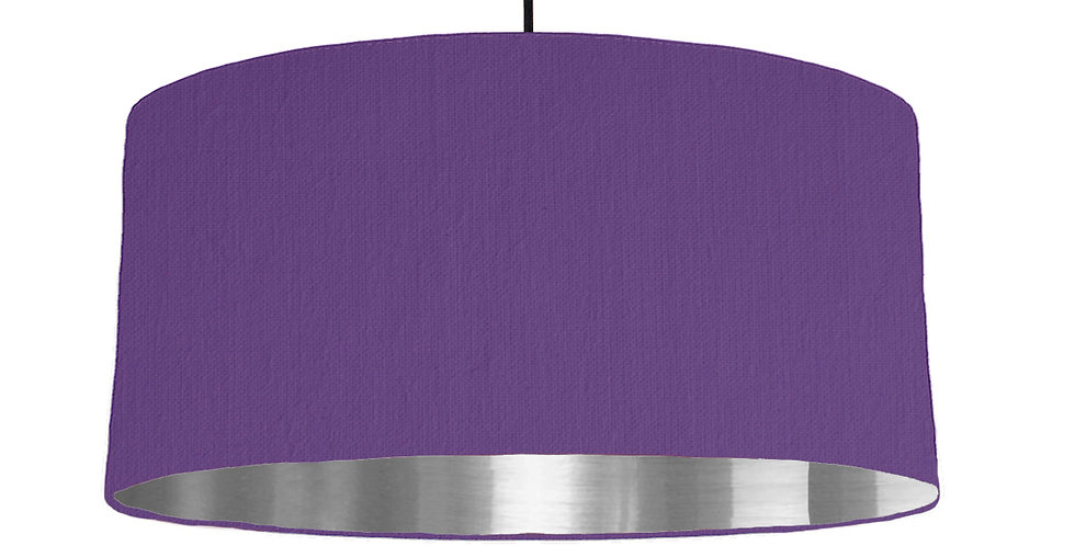 Violet & Silver Mirrored Lampshade - 60cm Wide