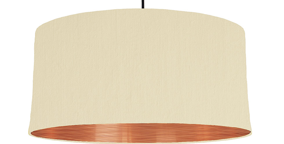 Natural & Brushed Copper Lampshade - 60cm Wide