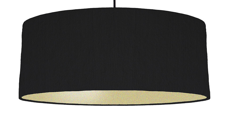 Black & Gold Matt Lampshade - 70cm Wide