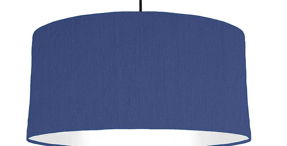 Royal Blue & White Lampshade - 60cm Wide