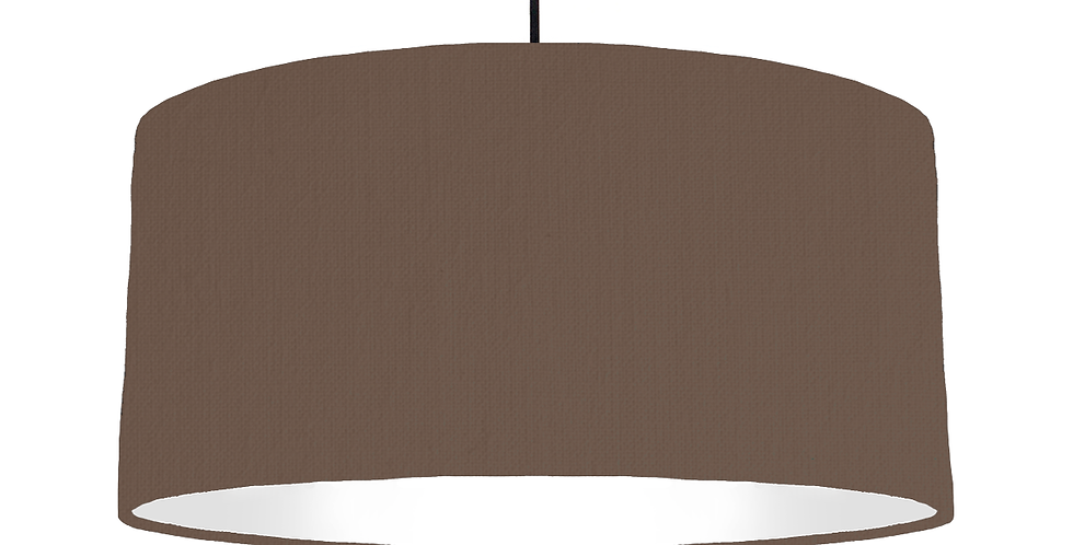 Brown & White Lampshade - 60cm Wide