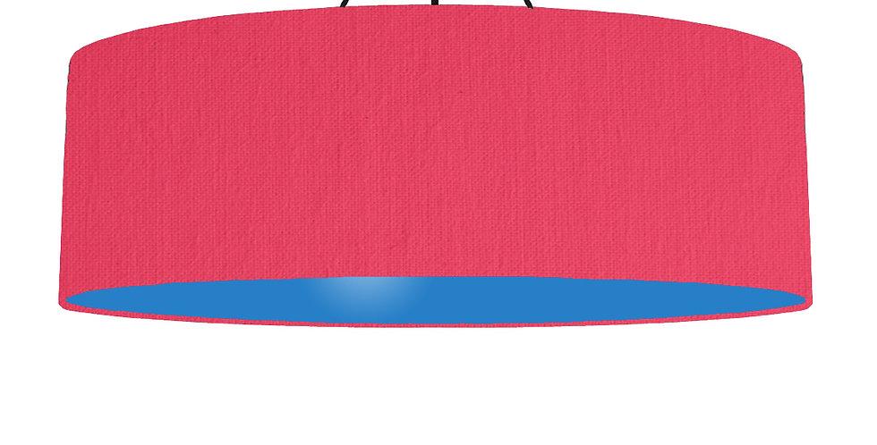 Cerise & Bright Blue Lampshade - 100cm Wide