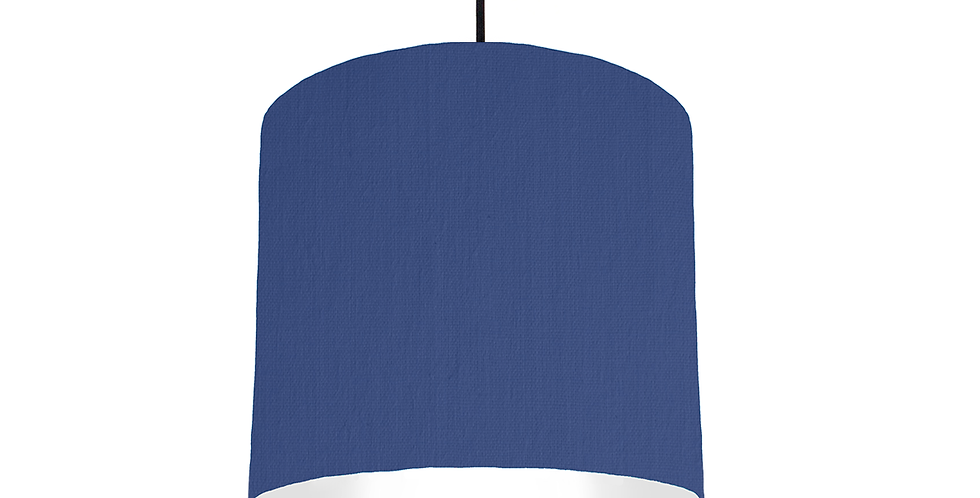 Royal Blue & White Lampshade - 25cm Wide