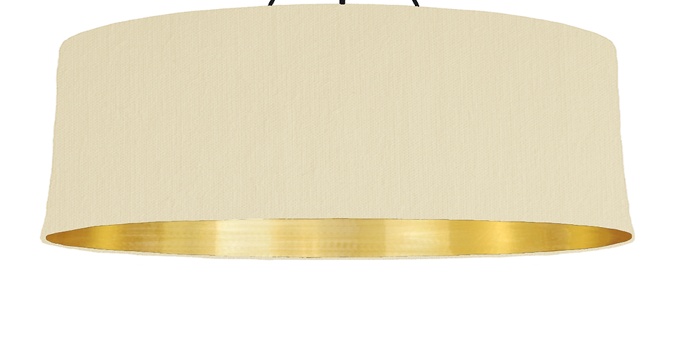 Natural & Brushed Gold Lampshade - 100cm Wide