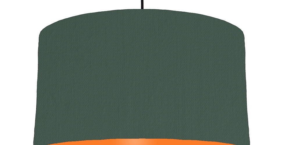 Bottle Green & Orange Lampshade - 50cm Wide