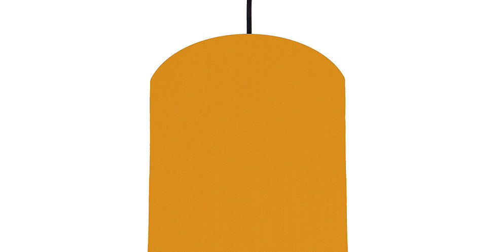 Mustard & Brushed Silver Lampshade - 20cm Wide
