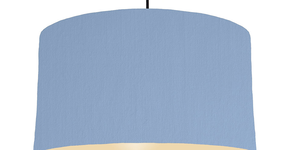 Sky Blue & Ivory Lampshade - 50cm Wide