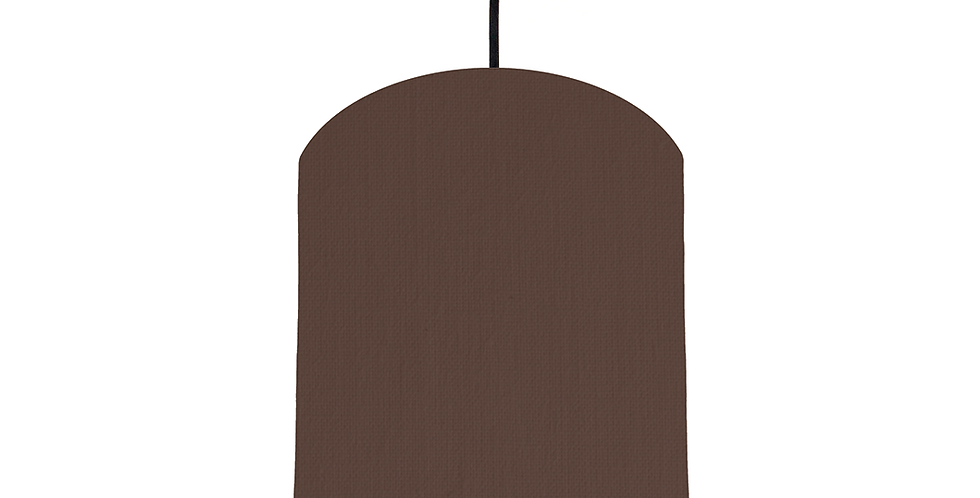 Brown & Copper Mirrored Lampshade - 20cm Wide