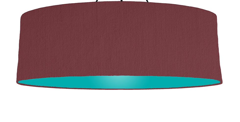 Wine Red & Turquoise Lampshade - 100cm Wide