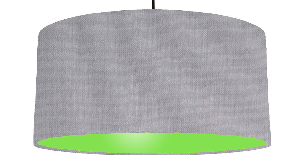 Light Grey & Lime Green Lampshade - 60cm Wide