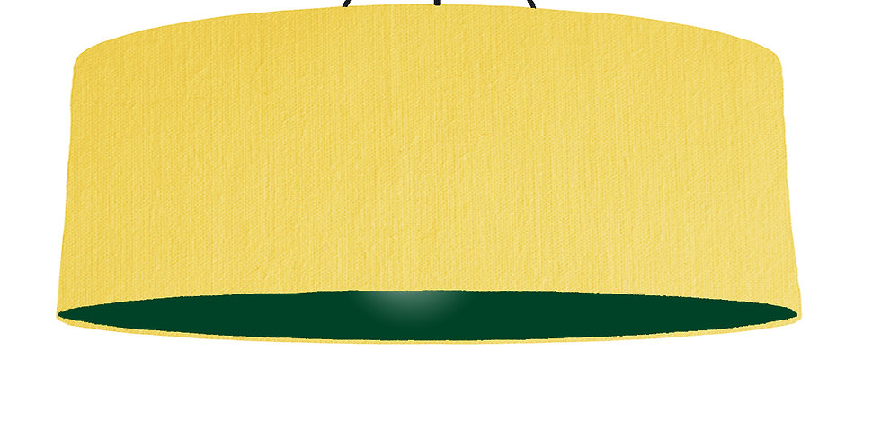 Lemon & Forest Green Lampshade - 100cm Wide