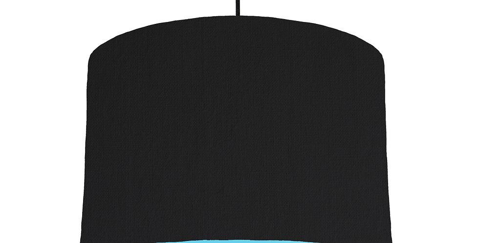 Black & Light Blue Lampshade - 30cm Wide