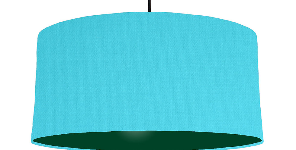 Turquoise & Forest Green Lampshade - 60cm Wide