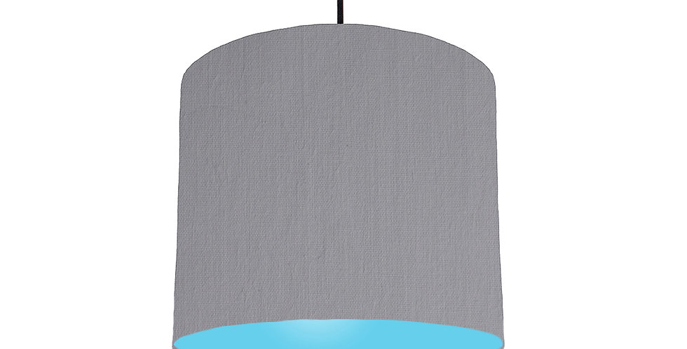 Light Grey & Light Blue Lampshade - 25cm Wide