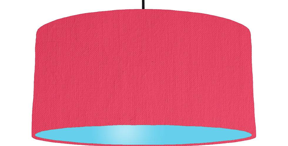 Cerise & Light Blue Lampshade - 60cm Wide