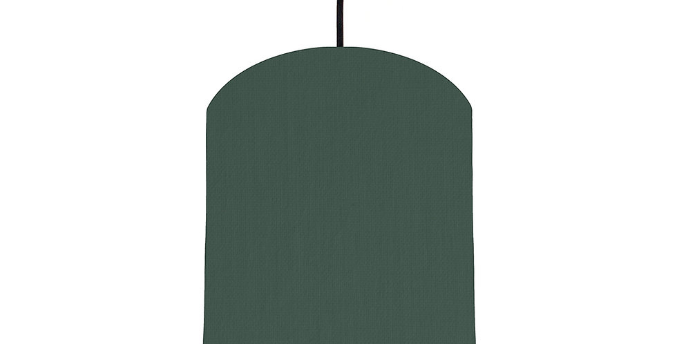 Bottle Green & Butter Yellow Lampshade - 20cm Wide