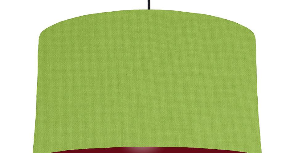 Pistachio & Burgundy Lampshade - 50cm Wide