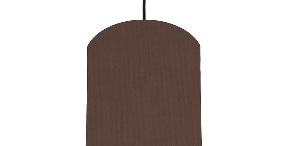 Brown & Brushed Copper Lampshade - 20cm Wide