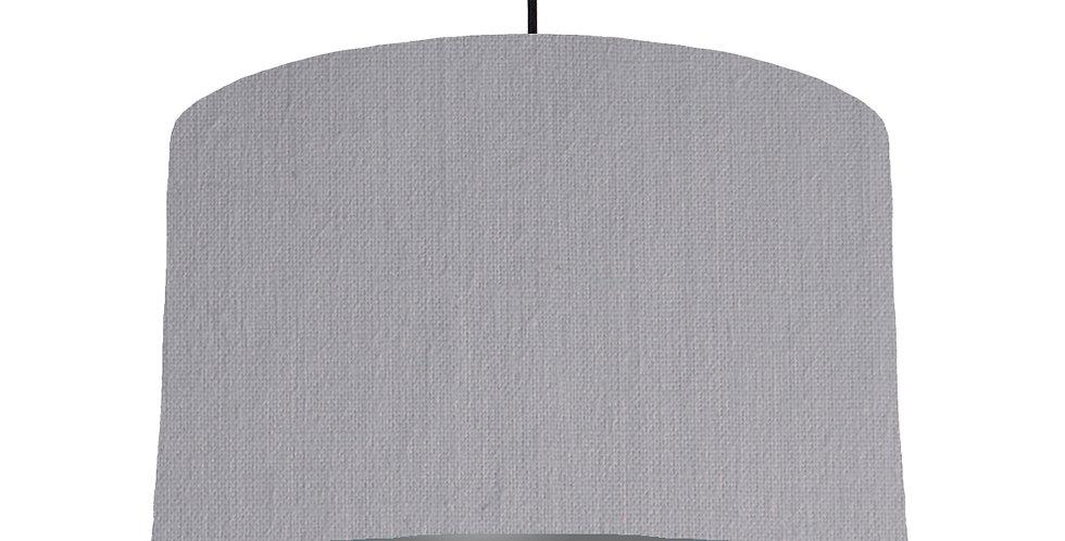 Light Grey & Dark Grey Lampshade - 40cm Wide