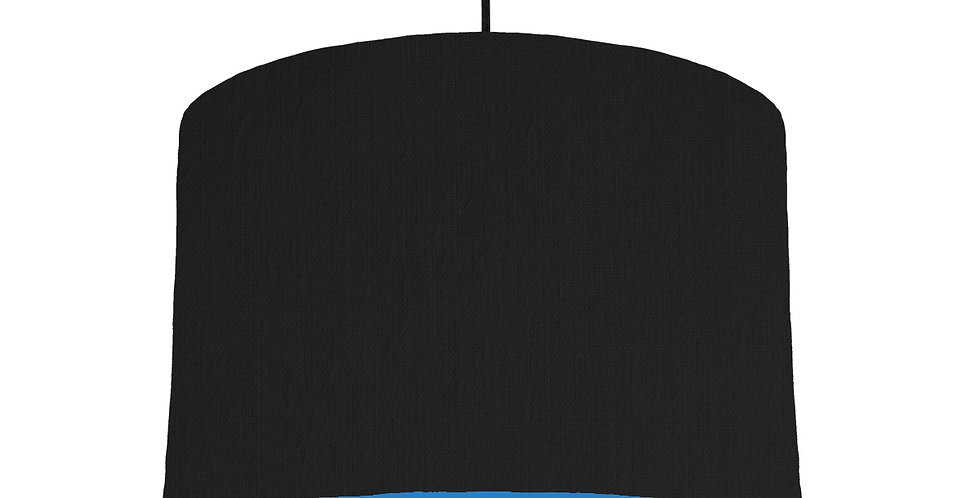 Black & Bright Blue Lampshade - 30cm Wide