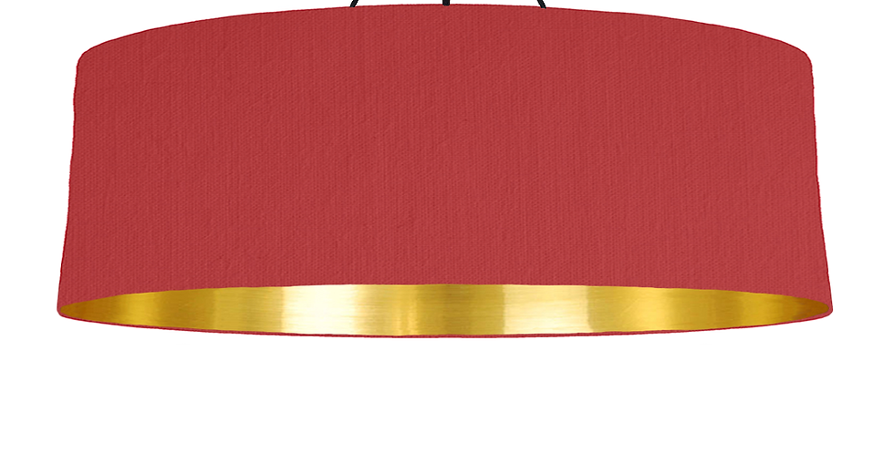Red & Gold Mirrored Lampshade - 100cm Wide