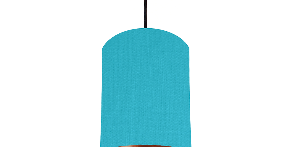 Turquoise & Copper Mirrored Lampshade - 15cm Wide