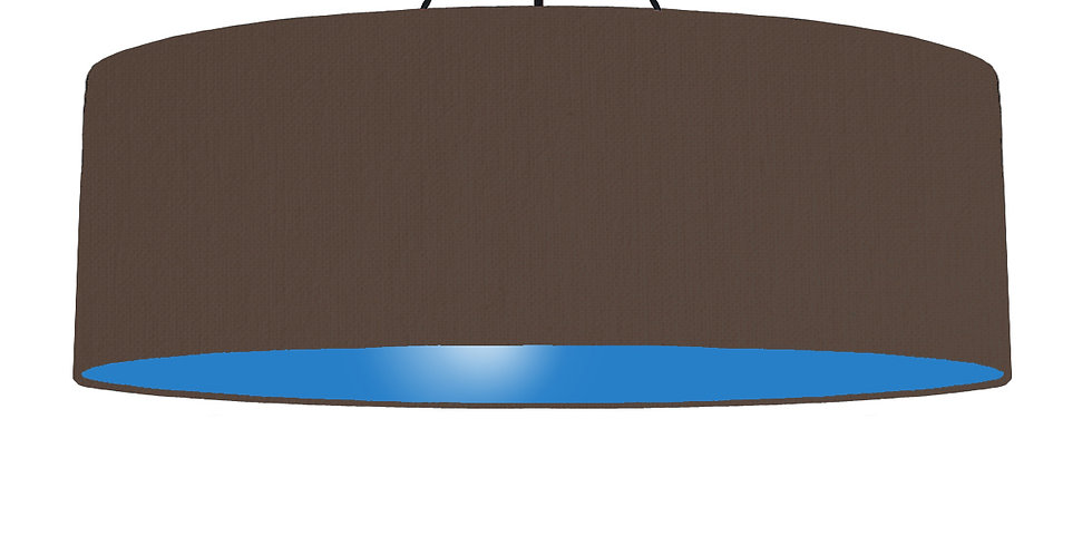 Brown & Bright Blue Lampshade - 100cm Wide