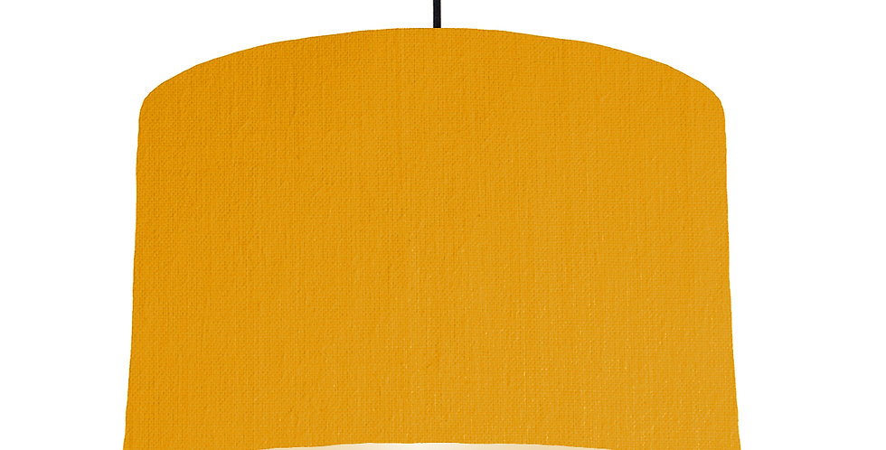 Mustard & Ivory Lampshade - 40cm Wide