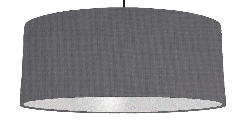 Dark Grey & Silver Lampshade - 70cm Wide