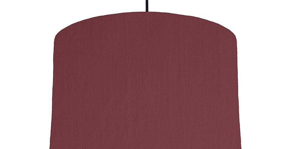 Wine & White Lampshade - 30cm Wide