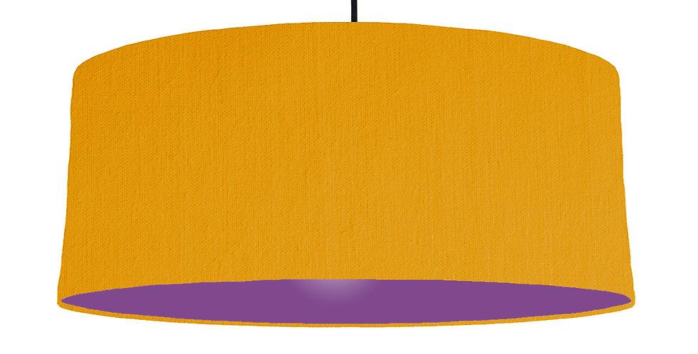 Mustard & Purple Lampshade - 70cm Wide
