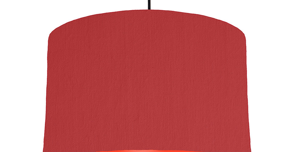 Red & Poppy Red Lampshade - 40cm Wide