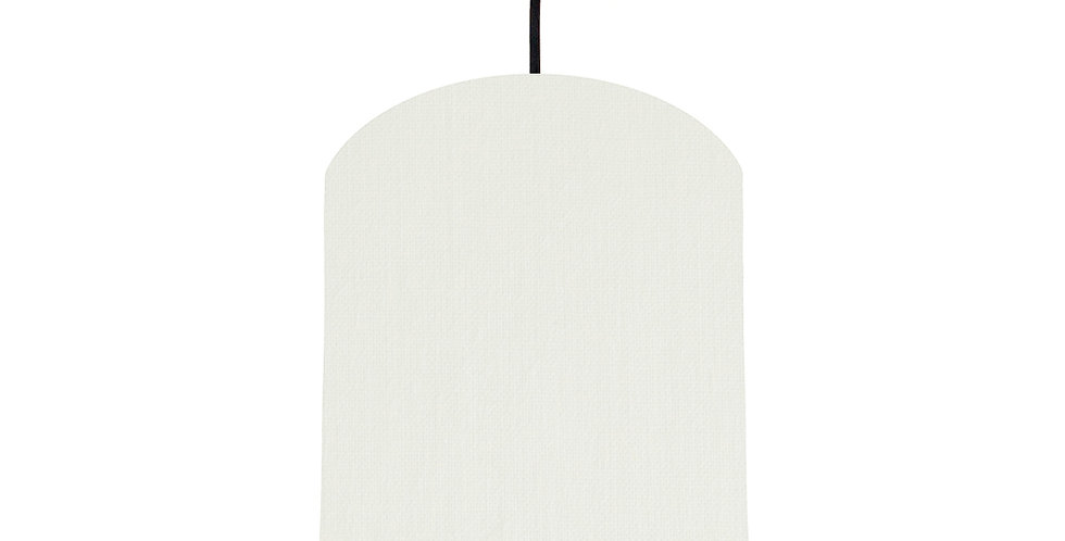 White & Poppy Red Lampshade - 20cm Wide