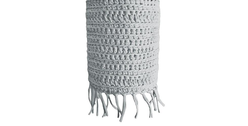 Crochet Lampshade, T-Shirt Yarn - 15cm wide