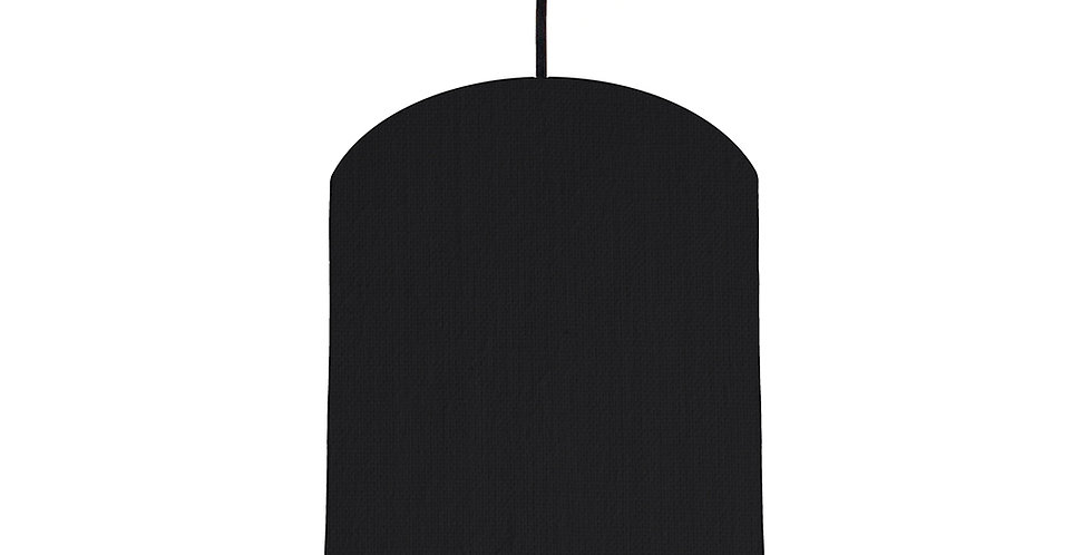 Black & Ivory Lampshade - 20cm Wide