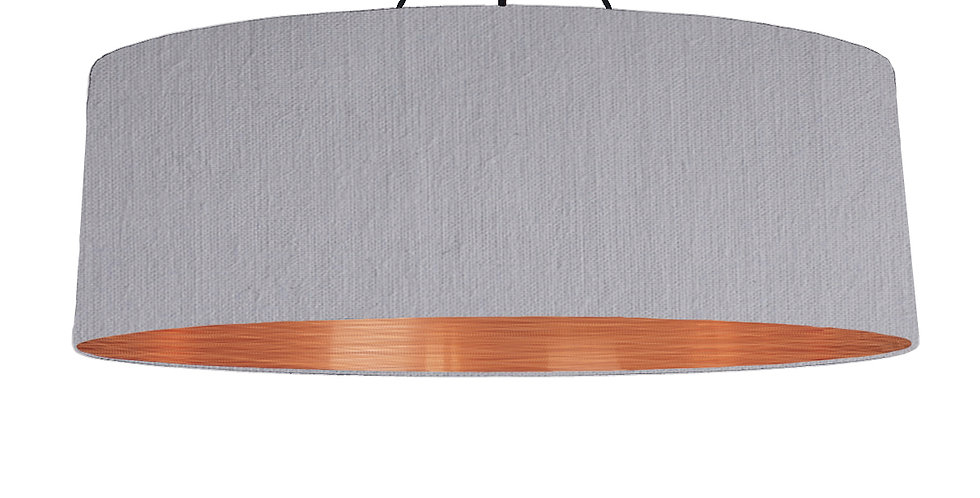 Light Grey & Brushed Copper Lampshade - 100cm Wide