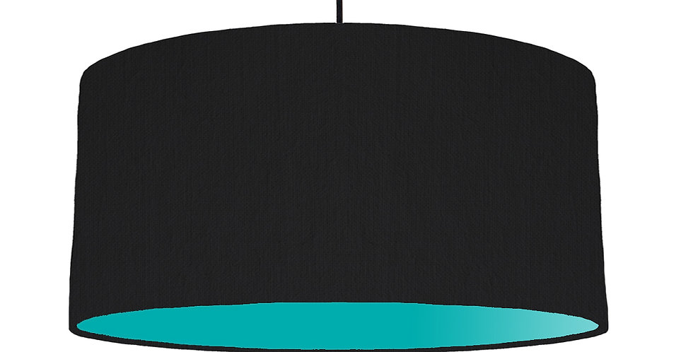 Black & Turquoise Lampshade - 60cm Wide